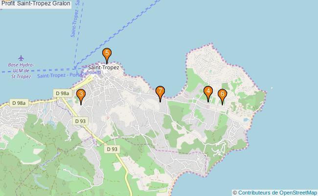 plan Profit Saint-Tropez Associations Profit Saint-Tropez : 9 associations