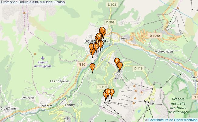 plan Promotion Bourg-Saint-Maurice Associations Promotion Bourg-Saint-Maurice : 20 associations