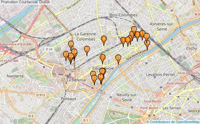 plan Promotion Courbevoie Associations Promotion Courbevoie : 155 associations