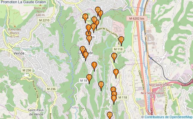 plan Promotion La Gaude Associations Promotion La Gaude : 23 associations