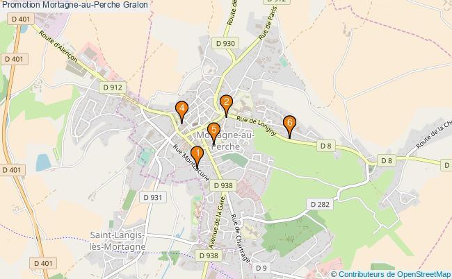 plan Promotion Mortagne-au-Perche Associations Promotion Mortagne-au-Perche : 6 associations