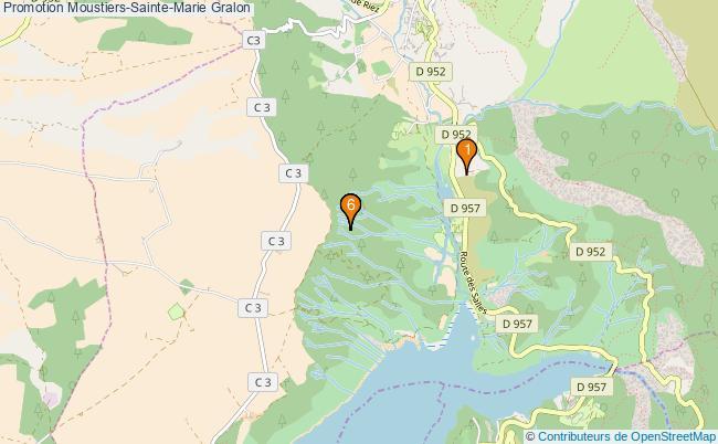 plan Promotion Moustiers-Sainte-Marie Associations Promotion Moustiers-Sainte-Marie : 6 associations