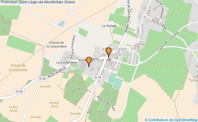 plan Promotion Saint-Léger-de-Montbrillais Associations Promotion Saint-Léger-de-Montbrillais : 3 associations