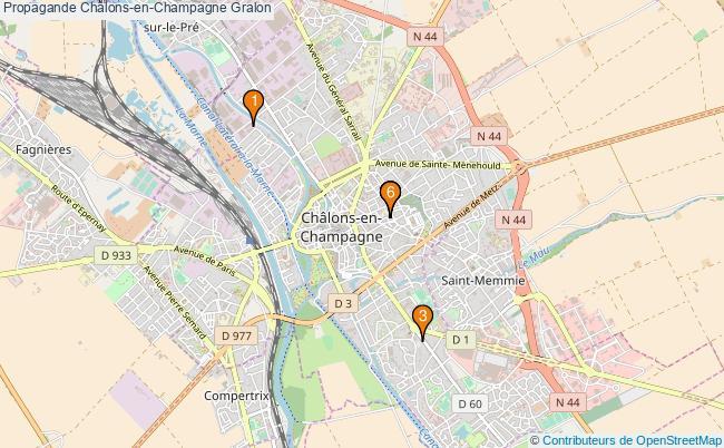 plan Propagande Châlons-en-Champagne Associations propagande Châlons-en-Champagne : 6 associations