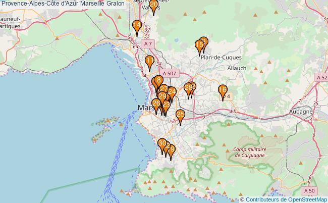 plan Provence-Alpes-Côte d'Azur Marseille Associations Provence-Alpes-Côte d'Azur Marseille : 93 associations