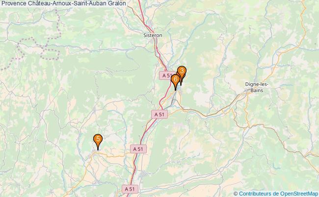 plan Provence Château-Arnoux-Saint-Auban Associations Provence Château-Arnoux-Saint-Auban : 6 associations