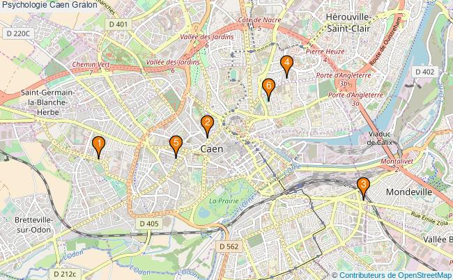plan Psychologie Caen Associations psychologie Caen : 6 associations
