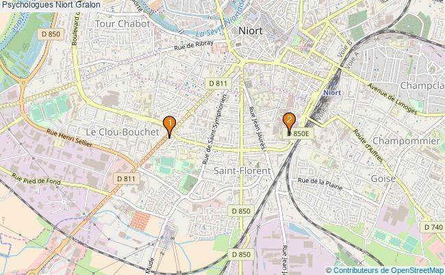 plan Psychologues Niort Associations psychologues Niort : 3 associations