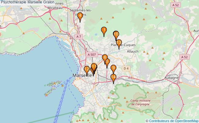 plan Psychothérapie Marseille Associations psychothérapie Marseille : 14 associations