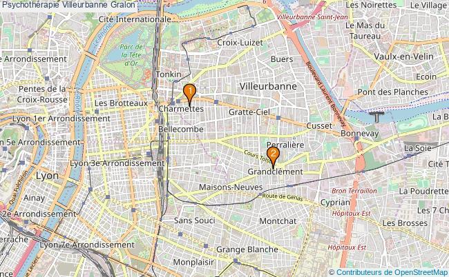 plan Psychothérapie Villeurbanne Associations psychothérapie Villeurbanne : 2 associations