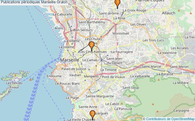 plan Publications périodiques Marseille Associations publications périodiques Marseille : 3 associations