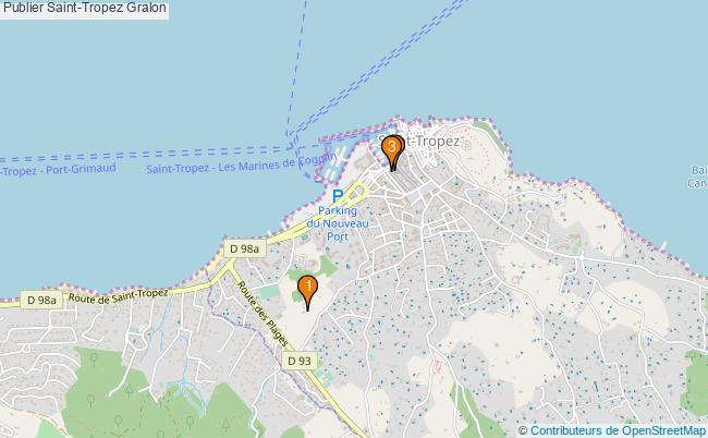 plan Publier Saint-Tropez Associations Publier Saint-Tropez : 3 associations