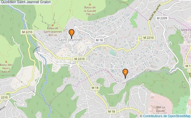 plan Quotidien Saint-Jeannet Associations Quotidien Saint-Jeannet : 2 associations