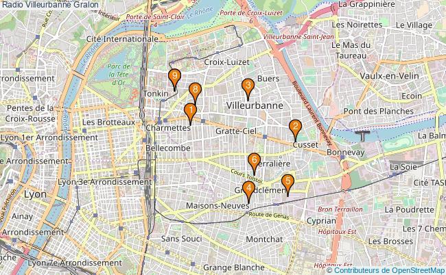 plan Radio Villeurbanne Associations radio Villeurbanne : 10 associations
