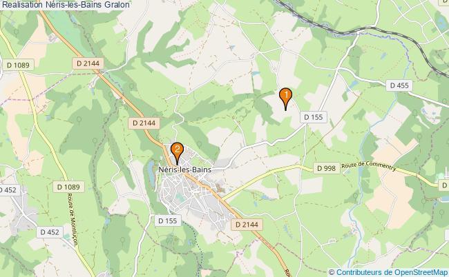 plan Realisation Néris-les-Bains Associations Realisation Néris-les-Bains : 3 associations