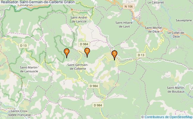 plan Realisation Saint-Germain-de-Calberte Associations Realisation Saint-Germain-de-Calberte : 5 associations