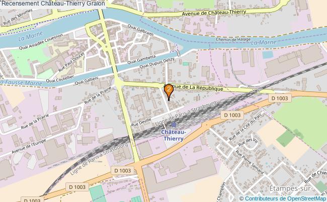 plan Recensement Château-Thierry Associations recensement Château-Thierry : 2 associations