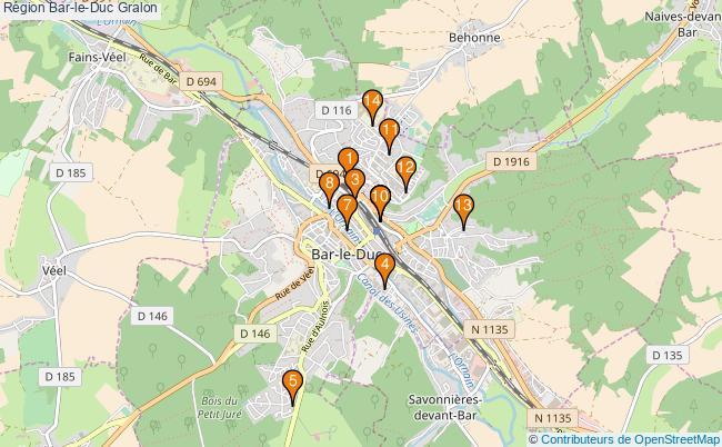 plan Région Bar-le-Duc Associations région Bar-le-Duc : 14 associations