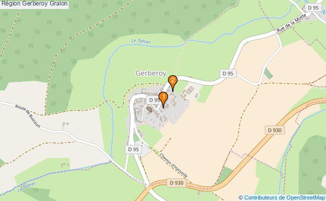 plan Région Gerberoy Associations région Gerberoy : 2 associations