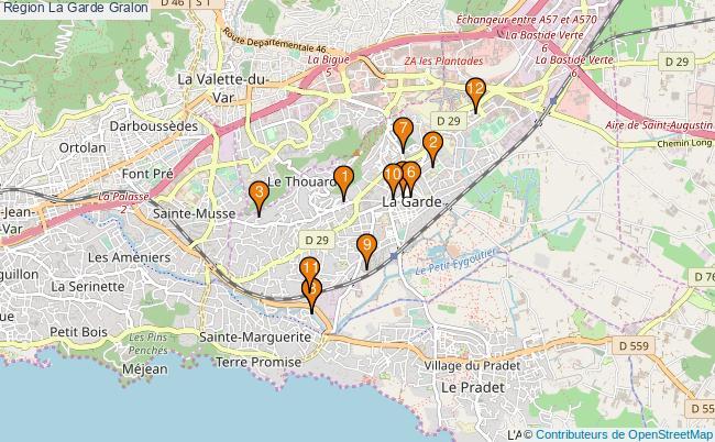 plan Région La Garde Associations région La Garde : 12 associations
