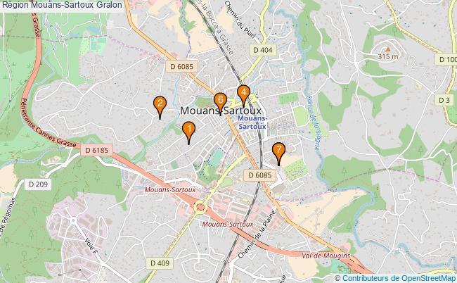 plan Région Mouans-Sartoux Associations région Mouans-Sartoux : 7 associations