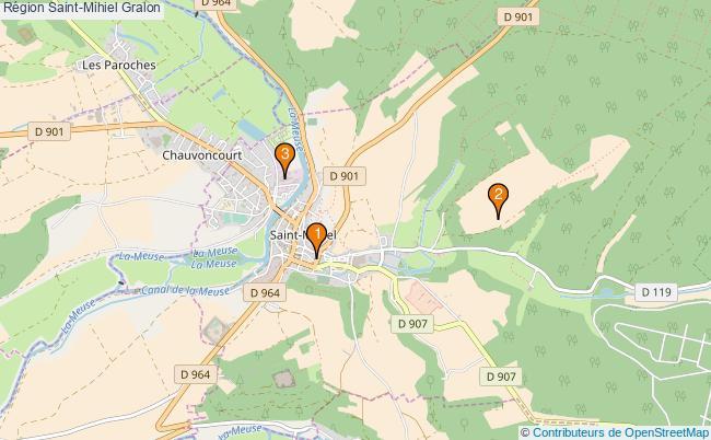 plan Région Saint-Mihiel Associations région Saint-Mihiel : 3 associations