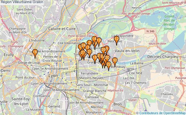 plan Région Villeurbanne Associations région Villeurbanne : 104 associations