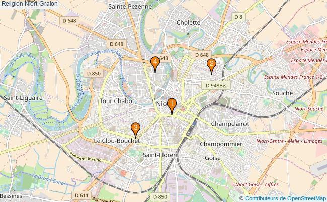plan Religion Niort Associations religion Niort : 4 associations
