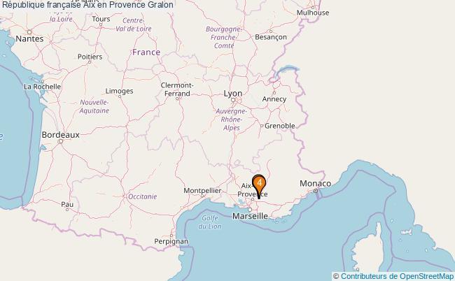 plan République française Aix en Provence Associations République française Aix en Provence : 4 associations