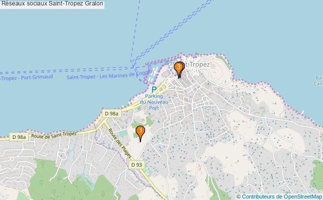 plan Réseaux sociaux Saint-Tropez Associations réseaux sociaux Saint-Tropez : 3 associations
