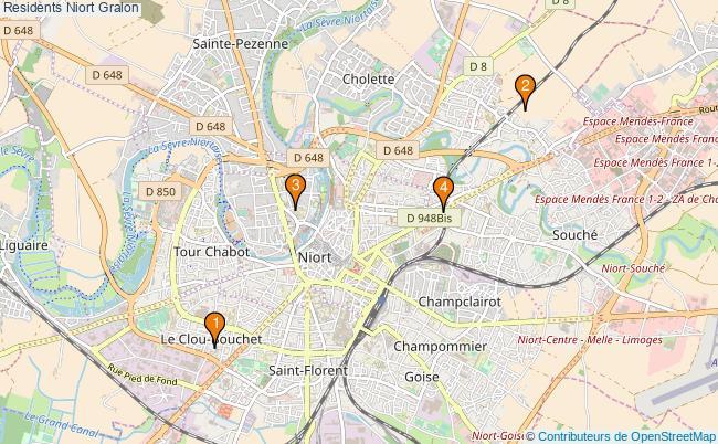 plan Residents Niort Associations residents Niort : 4 associations