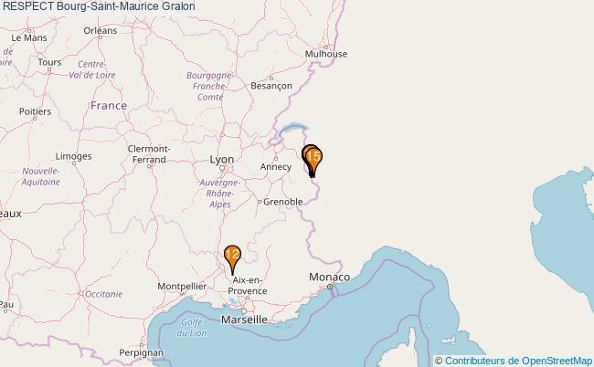 plan RESPECT Bourg-Saint-Maurice Associations RESPECT Bourg-Saint-Maurice : 15 associations