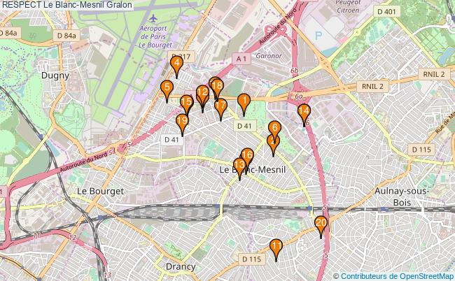 plan RESPECT Le Blanc-Mesnil Associations RESPECT Le Blanc-Mesnil : 20 associations