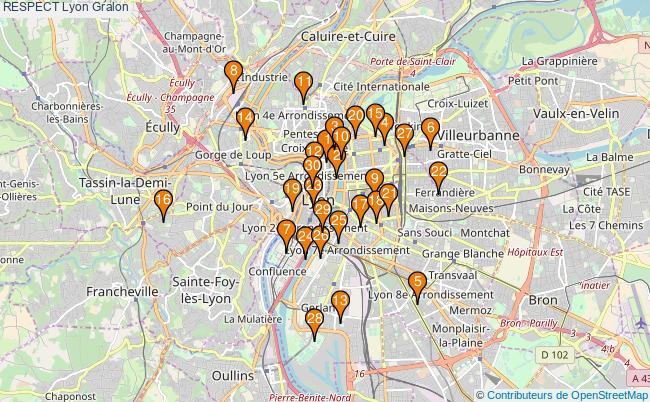 plan RESPECT Lyon Associations RESPECT Lyon : 485 associations