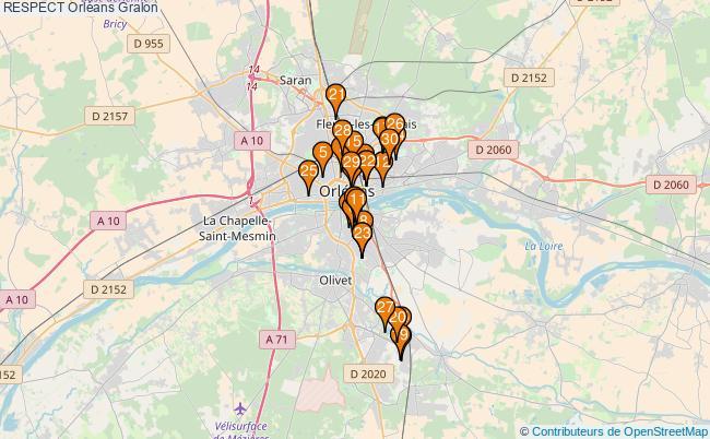 plan RESPECT Orléans Associations RESPECT Orléans : 102 associations