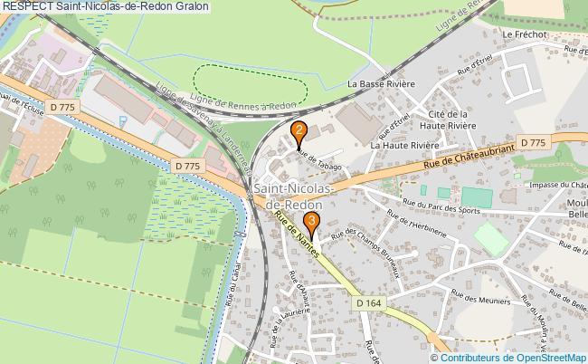 plan RESPECT Saint-Nicolas-de-Redon Associations RESPECT Saint-Nicolas-de-Redon : 3 associations