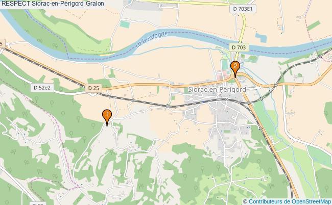 plan RESPECT Siorac-en-Périgord Associations RESPECT Siorac-en-Périgord : 2 associations