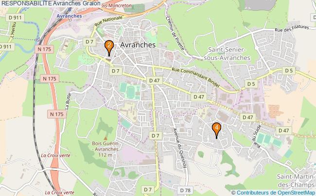 plan RESPONSABILITE Avranches Associations RESPONSABILITE Avranches : 4 associations