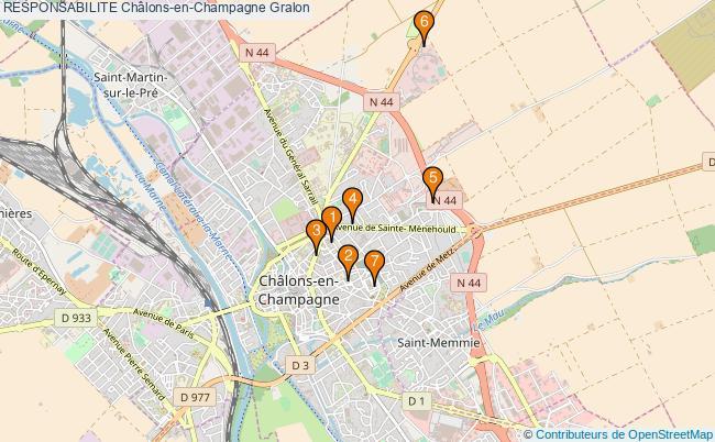 plan RESPONSABILITE Châlons-en-Champagne Associations RESPONSABILITE Châlons-en-Champagne : 8 associations