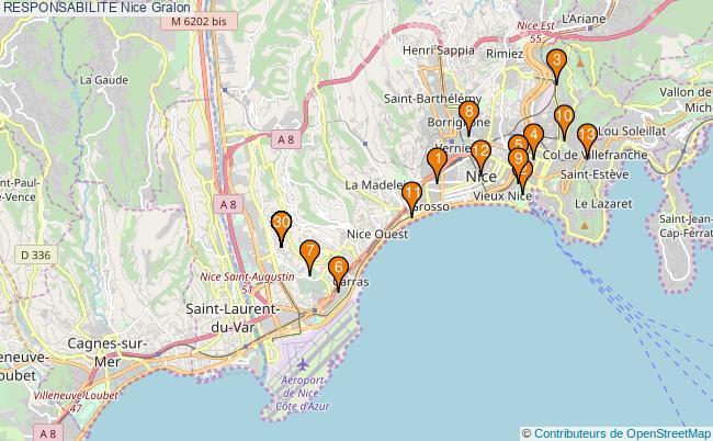 plan RESPONSABILITE Nice Associations RESPONSABILITE Nice : 74 associations