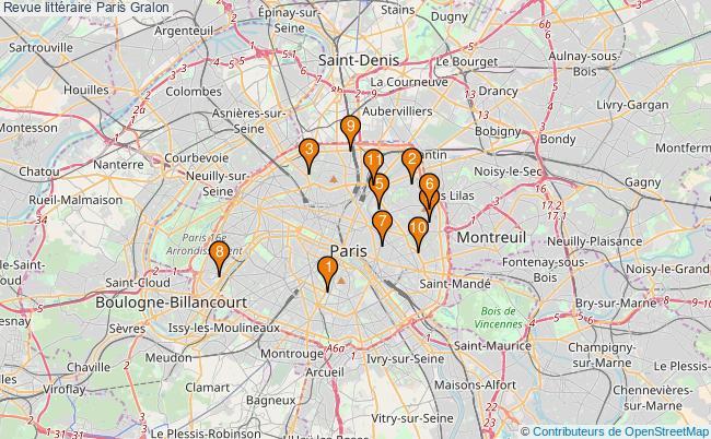 plan Revue littéraire Paris Associations revue littéraire Paris : 10 associations