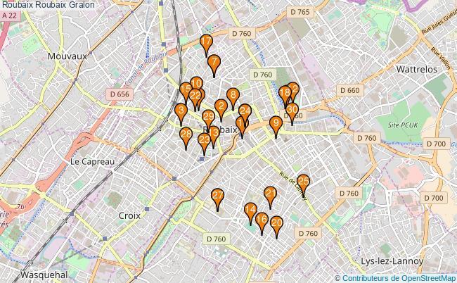 plan Roubaix Roubaix Associations Roubaix Roubaix : 226 associations