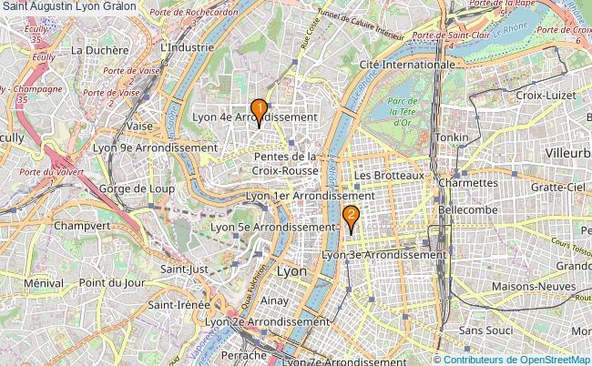 plan Saint Augustin Lyon Associations Saint Augustin Lyon : 2 associations