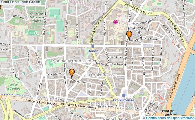plan Saint Denis Lyon Associations Saint Denis Lyon : 2 associations