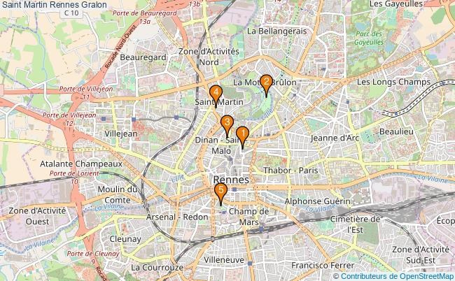 plan Saint Martin Rennes Associations Saint Martin Rennes : 5 associations