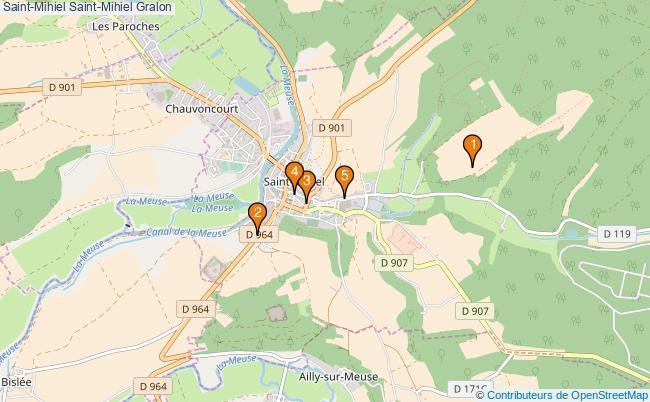 plan Saint-Mihiel Saint-Mihiel Associations Saint-Mihiel Saint-Mihiel : 5 associations