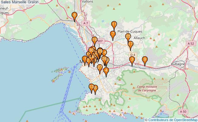 plan Salles Marseille Associations Salles Marseille : 43 associations