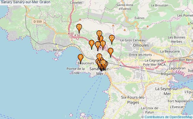 plan Sanary Sanary-sur-Mer Associations Sanary Sanary-sur-Mer : 26 associations