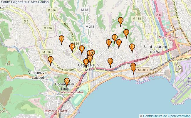 plan Santé Cagnes-sur-Mer Associations Santé Cagnes-sur-Mer : 24 associations