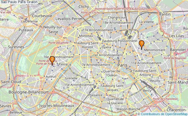 plan Sao Paulo Paris Associations Sao Paulo Paris : 2 associations